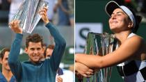 Indian Wells'te zafer Thiem ve Andreescu'nun