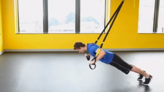 Push (TRX chest press)